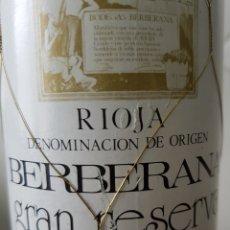 Coleccionismo Otros Botellas y Bebidas: BOTELLA RIOJA BERBERANA GRAN RESERVA 1973. Lote 168197444