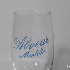 Coleccionismo Otros Botellas y Bebidas: ANTIGUA COPA EN CRISTAL PUBLICIDAD MONTILLA ALVEAR. MED. ALTO 13 CM. . Lote 168780160