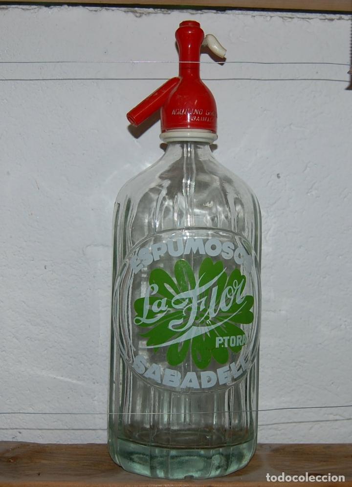 SIFÓN LA FLOR DE SABADELL (Coleccionismo - Otras Botellas y Bebidas )