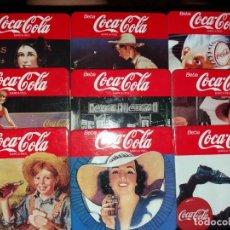 Coleccionismo Otros Botellas y Bebidas: JUEGO 9 POSAVASOS COCA COLA VINTAGE CORCHO. Lote 169734920