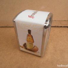 Coleccionismo Otros Botellas y Bebidas: SERVILLETERO PARA BAR -- PUBLICIDAD FRANGELICO. Lote 170863115