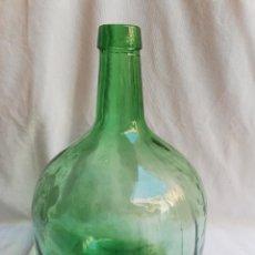 Coleccionismo Otros Botellas y Bebidas: DAMAJUANA. GARRAFA DE CRISTAL VERDE. VIRESA. 8-L. Lote 170892320