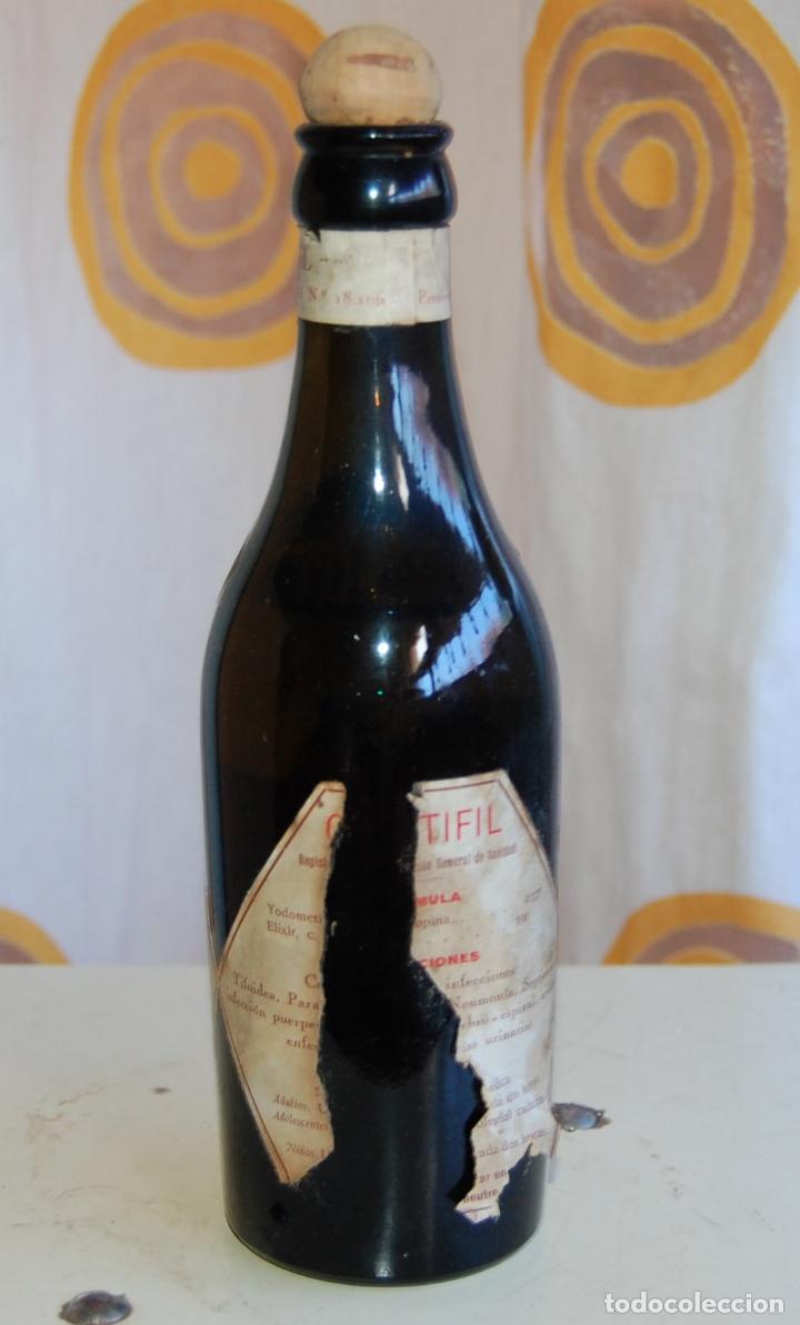 Coleccionismo Otros Botellas y Bebidas: BOTELLA FRASCO DE FARMACIA COLI TIFIL LABORATORIO ELECTROLACTIL VICENTE XERRI VALENCIA - Foto 4 - 171175995