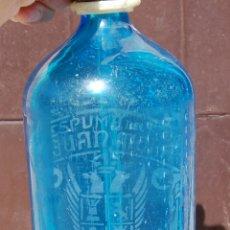 Coleccionismo Otros Botellas y Bebidas: SIFÓN AZUL ESPUMOSOS JUAN MORA VILLAMINAYA TOLEDO . Lote 171463605