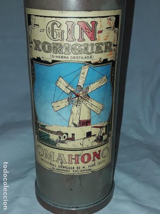 Coleccionismo Otros Botellas y Bebidas: Bella botella Gin Xoriguer con sello vacía Ginebra destilada Mahon - Foto 3 - 171776267