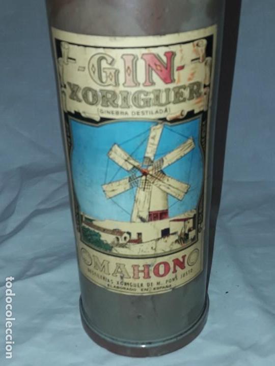 Coleccionismo Otros Botellas y Bebidas: Bella botella Gin Xoriguer con sello vacía Ginebra destilada Mahon - Foto 6 - 171776267