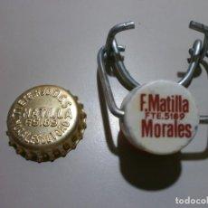 Coleccionismo Otros Botellas y Bebidas: ANTIGUA CHAPA CORONA CORCHO Y TAPON DE GASEOSA F.MATILLA MORALES DE TORO ZAMORA PERFECTA SIN USO. Lote 172454155