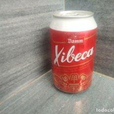 Coleccionismo Otros Botellas y Bebidas: LATA LLENA DE CERVEZA DAMM XIBECA. Lote 172785915