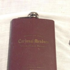 Coleccionismo Otros Botellas y Bebidas: PETACA METALICA CARDENAL MENDOZA COLECCION BRANDY. Lote 173830465
