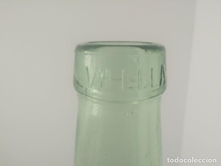 Coleccionismo Otros Botellas y Bebidas: Antigua garrafa damajuana de color TRANSPARENTE marca VILELLA cristal vidrio botella - Foto 5 - 174315755