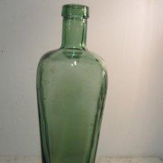 Coleccionismo Otros Botellas y Bebidas: ANTIGUA BOTELLA DE TINTA EN CRISTAL DE COLOR VERDOSO. Lote 174317999