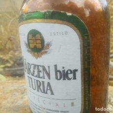 Coleccionismo Otros Botellas y Bebidas: BOTELLA DE CERVEZA EL TURIA MÄRZEN BIER VALENCIA DEL AÑO 1986 DE 33 CL. Lote 175591187