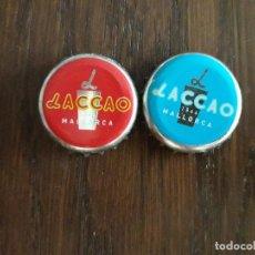Coleccionismo Otros Botellas y Bebidas: LOTE DE 2 CHAPAS DE LACCAO. Lote 204492545