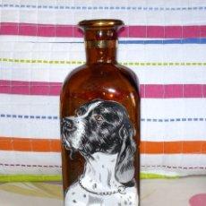 Coleccionismo Otros Botellas y Bebidas: BOTELLA DE CRISTAL DE WHISKY-SERIGRAFIADA CON PERRO-AÑOS 60-70. Lote 175969820