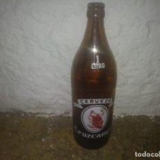 Coleccionismo Otros Botellas y Bebidas: ANTIGUA BOTELLA 1 LITRO DE LA CRUZ DEL CAMPO CERVEZA CRUZCAMPO SEVILLA SERIGRAFIADA. Lote 176031370