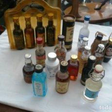 Coleccionismo Otros Botellas y Bebidas: LOTE DE 21 BOTELLINES MINIATURA DE VINOS Y LICORES.. Lote 176084609