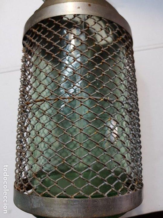 Coleccionismo Otros Botellas y Bebidas: Sifon antiguo capuchón y rejilla metalico-Ramon Alberola-escaso - Foto 2 - 177028928