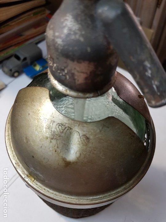 Coleccionismo Otros Botellas y Bebidas: Sifon antiguo capuchón y rejilla metalico-Ramon Alberola-escaso - Foto 6 - 177028928