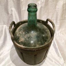 Coleccionismo Otros Botellas y Bebidas: GARRAFA CON BONITA DAMAJUANA DE 2,5 LITROS DE VINO A GRANEL. Lote 177203837