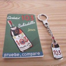 Coleccionismo Otros Botellas y Bebidas: BOBADILLA 103, LLAVERO Y LIBRETA. Lote 177524045