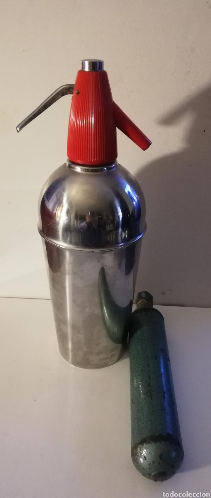 SIFON FUNCIONANDO FANFA (Coleccionismo - Otras Botellas y Bebidas )