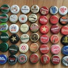 Coleccionismo Otros Botellas y Bebidas: LOTE 54 CHAPAS, CERVEZAS, COCA COLA, PEPSI, FANTA, VICHY... . Lote 179173845