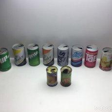 Coleccionismo Otros Botellas y Bebidas: LOTE 12 LATAS VACÍAS BEBIDAS ESTILO 'VINTAGE' - PEPSI -KAS -7 UP -SPRITE -HORCHATA TUNA - AÑOS 80/90. Lote 179180585