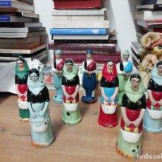 Coleccionismo Otros Botellas y Bebidas: IMPRESIONANTE LOTE DE ANTIGUAS BOTELLAS MALLORQUINAS DE PALO Y BRANDY . 17 CM. MALLORCA. Lote 179209935
