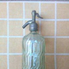 Coleccionismo Otros Botellas y Bebidas: ANTIGUA BOTELLA DE SIFON CON TAPON DE PLOMO JOSE ARIÑO CAMARLES. Lote 179376010