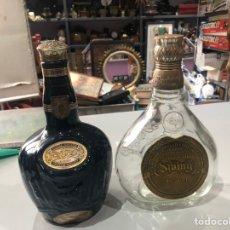 Coleccionismo Otros Botellas y Bebidas: LOTE DE 2 BOTELLAS - CHIVAS ROYAL SALUTE 21 AÑOS - SCOOTCH WHISKY DE CERAMICA Y BY JOHN WALKER. Lote 180102312