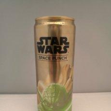 Coleccionismo Otros Botellas y Bebidas: STAR WARS SPACE PUNCH ENERGY CANETTE, 355ML COLLECTORS CAN # 2 YODA. Lote 180200747
