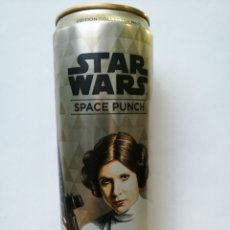 Coleccionismo Otros Botellas y Bebidas: STAR WARS SPACE PUNCH ENERGY CANETTE, 355ML COLLECTORS CAN # 10 PRINCESA LAIA. Lote 180201348