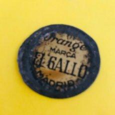 Coleccionismo Otros Botellas y Bebidas: ORANGE MARCA EL GALLO MADRID CHAPA RETRO ANTIGUAL ORANGE NARANJA BEBIDA MARCA EL GALLO UNICA CHAPA. Lote 180387795