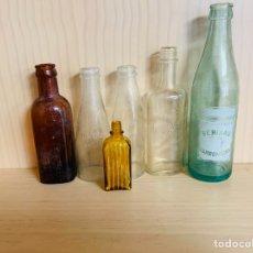 Coleccionismo Otros Botellas y Bebidas: LOTE DE SEIS BOTELLINES ANTIGUOS PARA DECORACIÓN. Lote 180931025