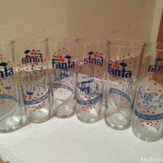 Coleccionismo Otros Botellas y Bebidas: LOTE 6 VASOS TUBO FANTA. Lote 182026402