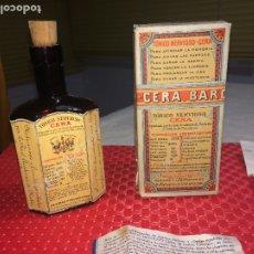 Coleccionismo Otros Botellas y Bebidas: TÓNICO NERVIOSO CERA - BARCELONA - AÑO 1942 - CAJA - BOTELLA Y PROSPECTOS. Lote 182906187