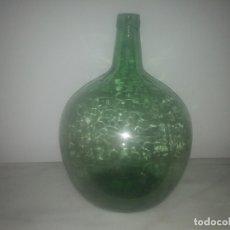 Coleccionismo Otros Botellas y Bebidas: ANTIGUA GARRAFA DAMAJUANA GRANDE COLOR VERDE PARA AGUA VINO ACEITE DE OLIVA VINAGRE LIQUIDO VIRESA. Lote 183361347