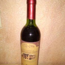 Coleccionismo Otros Botellas y Bebidas: BOTELLA DE VINO CASTAÑAR ( BÉJAR ) BAR EL NIDO 1711-1996. Lote 183488576