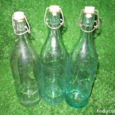 Coleccionismo Otros Botellas y Bebidas: LOTE 3 ANTIGUAS BOTELLAS GASEOSA . Lote 183891921