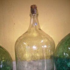 Coleccionismo Otros Botellas y Bebidas: GARRAFA O DAMA JUANA -- CRISTAL BLANCO -- 5 LITROS --. Lote 184432393