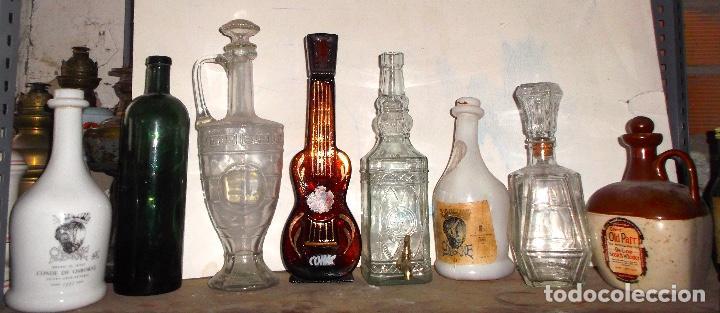 LOTE DE 8 BOTELLAS DE COLECCIÓN DESDE 1890 LA VERDE AL 2000 EL TARRO LICORERA TALLADO (Coleccionismo - Otras Botellas y Bebidas )