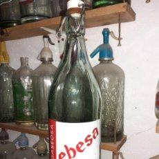 Coleccionismo Otros Botellas y Bebidas: BOTELLA DE GASEOSA EBESA DE VILLARRUBIA DE LOS OJOS. Lote 189506592