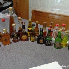Coleccionismo Otros Botellas y Bebidas: LOTE BOTELLINES DE LICOR, BRANDY, ANIS. ETC. Lote 190110403