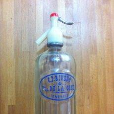 Coleccionismo Otros Botellas y Bebidas: BOTELLA DE SIFON DE PUERTO DE LA CRUZ, TENERIFE ISLAS CANARIAS C.P. RIVERO. Lote 190616503