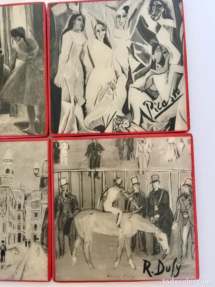 Coleccionismo Otros Botellas y Bebidas: 6 POSAVASOS MADERA-DIBUJOS PINTORES MODERNOS-FIELTRO DEBAJO-VINTAGE-BOTELLA VINO-PICASSO, MATISSE,.. - Foto 3 - 190636892