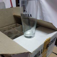 Coleccionismo Otros Botellas y Bebidas: CAJA 12 VASO TUBO ESTRELLA LEVANTE. Lote 191062366