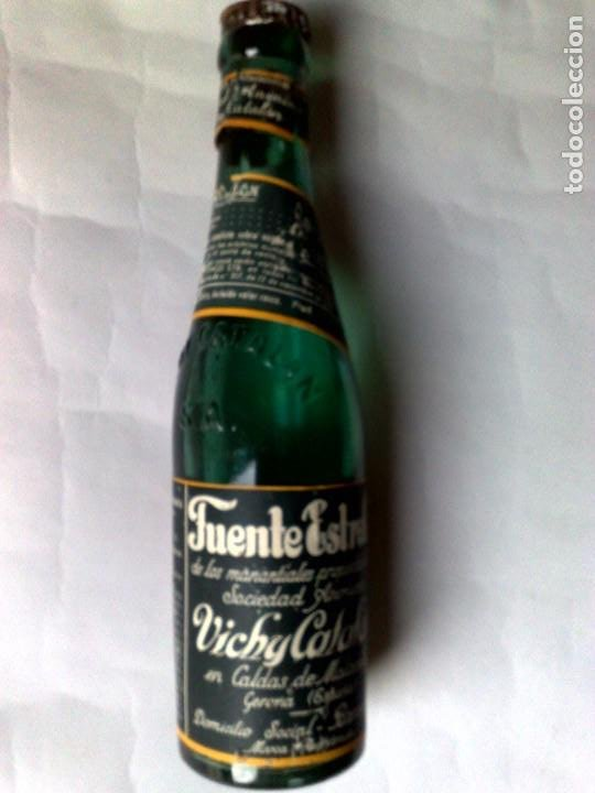 Coleccionismo Otros Botellas y Bebidas: BOTELLA ANTIGUA DE VICHI CATALÁN,FUENTE ESTRELLA,CALDAS DE MALAVELLA,GERONA,SIN ABRIR (DESCRIPCIÓN) - Foto 2 - 192046405