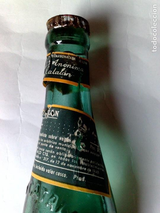 Coleccionismo Otros Botellas y Bebidas: BOTELLA ANTIGUA DE VICHI CATALÁN,FUENTE ESTRELLA,CALDAS DE MALAVELLA,GERONA,SIN ABRIR (DESCRIPCIÓN) - Foto 4 - 192046405