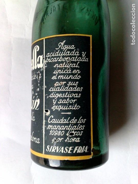 Coleccionismo Otros Botellas y Bebidas: BOTELLA ANTIGUA DE VICHI CATALÁN,FUENTE ESTRELLA,CALDAS DE MALAVELLA,GERONA,SIN ABRIR (DESCRIPCIÓN) - Foto 3 - 192046405