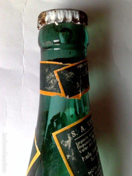 Coleccionismo Otros Botellas y Bebidas: BOTELLA ANTIGUA DE VICHI CATALÁN,FUENTE ESTRELLA,CALDAS DE MALAVELLA,GERONA,SIN ABRIR (DESCRIPCIÓN) - Foto 6 - 192046405